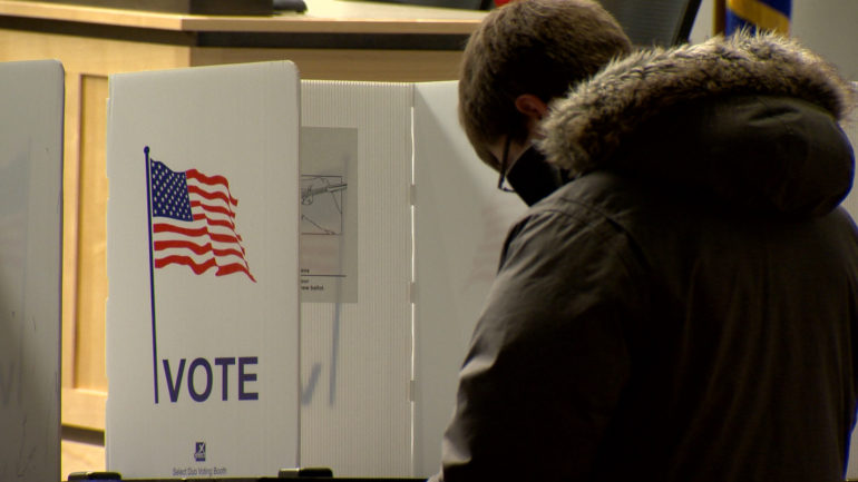 Wisconsinite votes in Feb. 18, 2020 spring primary.