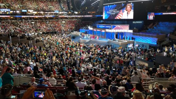 Scene from the 2016 Democratic National Convention in Philadelphia.