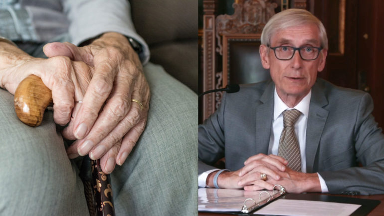 Gov. Tony Evers said $100 of federal coronavirus aid money will go to medical care facilities, such as nursing homes.