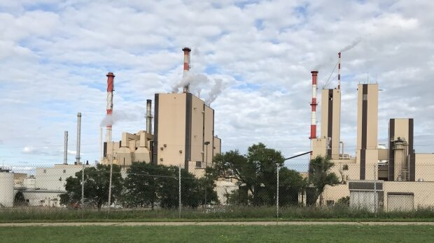 The Verso paper mill is among the largest employers in Wisconsin Rapids. The Ohio-based company announced June 9, 2020 that it would idle mills in Wisconsin Rapids and Duluth, Minnesota, laying off 1,000 workers. (Courtesy: Rob Mentzer / WPR)